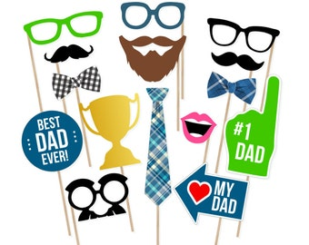 Father's Day Photo Booth Props - Father's Day Photobooth Props - Father's Day Printable - Father's Day Party - Dad Party