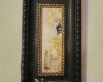 """Horror Art Portrait, Macabre, Surreal Painting """"Girl Next Door"""""""