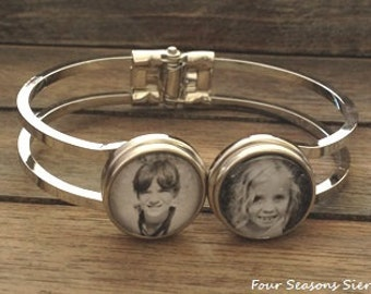 Custom Personalized Photo Bracelet, Photo Jewelry, Ginger Snaps Jewelry, Snap Jewelry, Gift for her, Birthday gift, Gift ideas