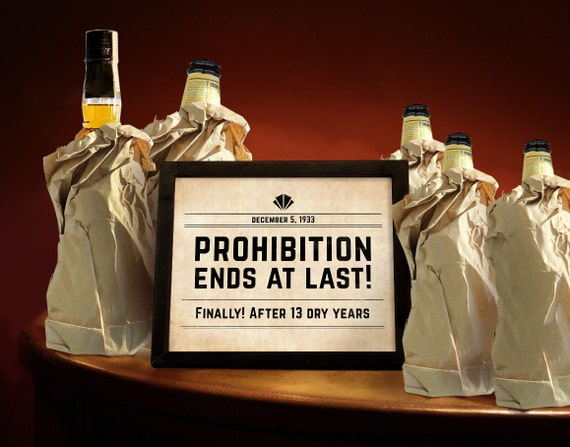 Prohibition era printable party decor great by partygraphix for 20s party decoration ideas