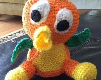 Crocheted Orange Bird