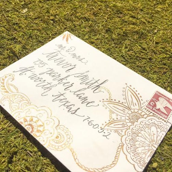 Wedding Gift Envelope India : Indian wedding invitation, Envelope Addressing, Bohemian wedding ...