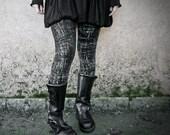 GRAPHITE - Goth Grunge Leggings Black Rocker Urban Decay Dystopian Punk Rocker