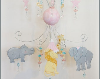 STUDIO SALE Circus Baby Mobile Nursery Mobile Baby Nursery Decor