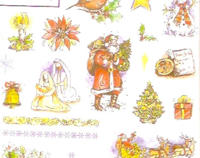 Christmas Rubber Stamps Sugarloaf product Bird Santa See D s stamps Set for Scrapbooking Collage Rubber stamp set Unmounted New package