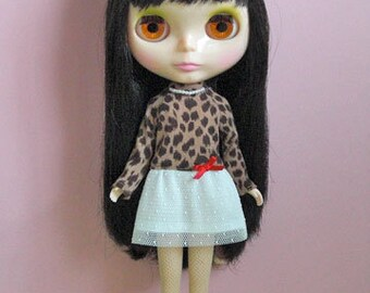 Animal print dress for Blythe doll