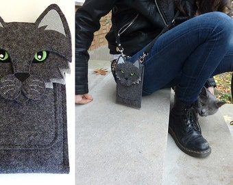 iPhone cat case - SE, 5, 5S, 5C, 6, 6S, 6 Plus, 6S Plus, 7 and 7 Plus - Cell phone purse