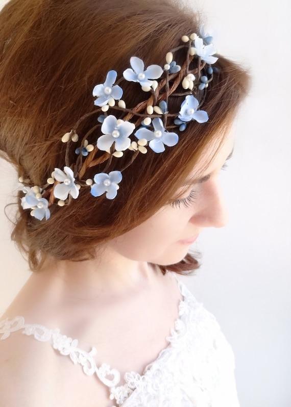 Articles similaires  Couronne de fleur bleue bleu ciel - Baby Hairstyles Girl