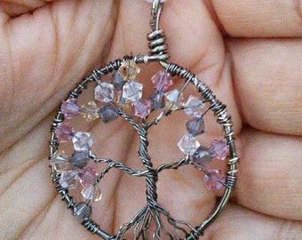 "Customizable ""Tree of Life"" or Family Tree Pendant"
