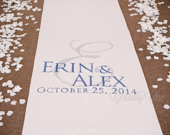 EXTRA WIDE Custom Hand-Painted Aisle Runner - Personalized - FREE Monogram!