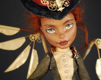 OOAK Custom Monster High * Steampunk Lady * Robecca Steam Doll Repaint by moniee