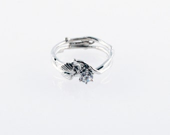 Simply Diamond Eco Engagement Ring - in 14K white gold