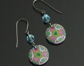 Mandala Earrings, Colorful Boho Dangle Earrings, Polymer Clay Earrings, Titanium Earrings, Art Jewelry, Gift for Women, Girlfriend, Mom Gift