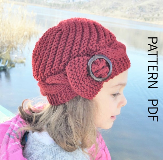 Free Hat Knitting Pattern For 2 Year Old : Knitting PATTERN hat Instant Download Knit hat pattern- 2 ...