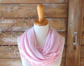 Light Pink Scarf, Valentines Day Gift, Infinity Scarf, Pale Pink Scarf, Circle Scarf, Gift For Her, Gift for Wife, Jersey Scarf, Jannysgirl