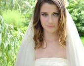Antique veil, wedding veil,  wedding headpiece, vintage bridal veil, floral headpiece, ivory wedding accessory
