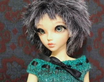 Knitted Wolf Grey Fur wig for Minifee / MSD