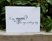 To my MOM on my wedding day, Printable, DIY Mother of the Bride, Stationary, Greeting Card, Thank you Note, Thankyou