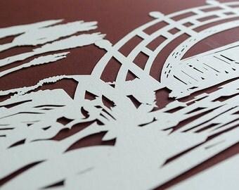 Sale: Ketubah Papercut by Jennifer Raichman - Japanese Garden
