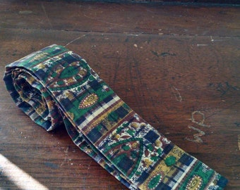 Paisley square-end 1960s tie