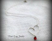 Sterling Silver Heart Necklace - Romantic Jewelry - Valentines Day - Heart Jewelry - Mothers Day Gift