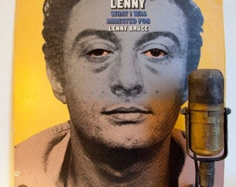 "ON SALE Lenny Bruce Vinyl Record Album  ""The Story of Lenny - What I was Arrested for"" (1975 Casablanca Records Re-Issue) - Xxx Adult Only C"