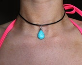 Turquoise Drop Cord Choker