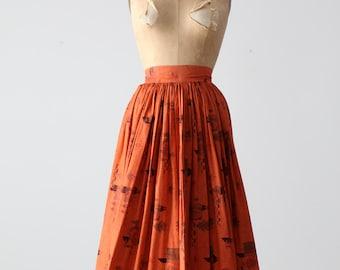 vintage 50s southwestern circle skirt