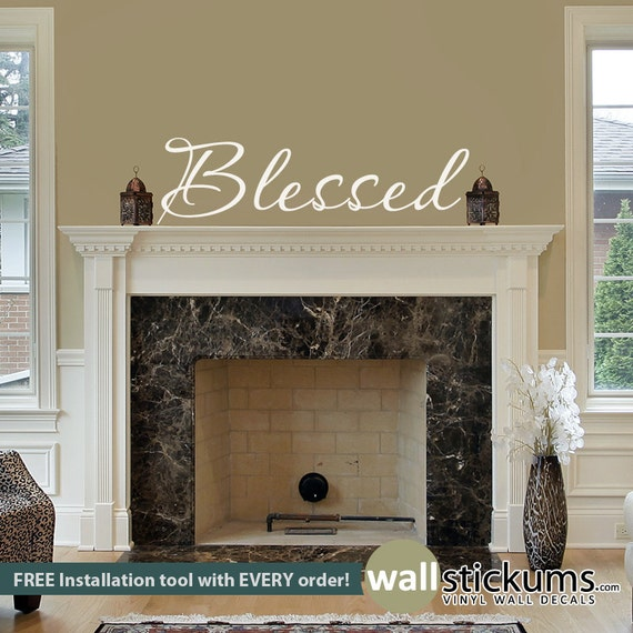 Blessed Wall Decal Quote for Decor by WallStickums