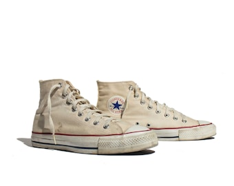 10 | Men's Vintage Made in USA Converse All Star Chuck Taylor Hi Top Shoes Sneakers