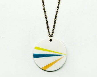 Modern ceramic pendant necklace, Ceramic jewelry pendant necklace, Modern minimalist jewelry, Ceramics & pottery, Scandinavian jewelry clay