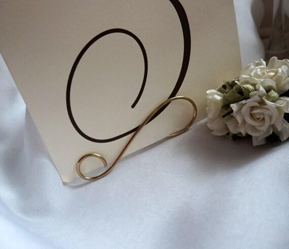 Wedding Decor, Gold Table Name Holders, 5pcs