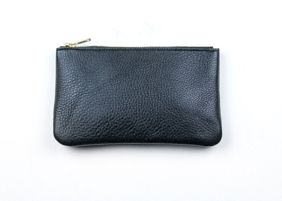 MAE Black Leather Wallet. Black Leather Pouch. Black Leather Wallet. Small Black Leather Pouch