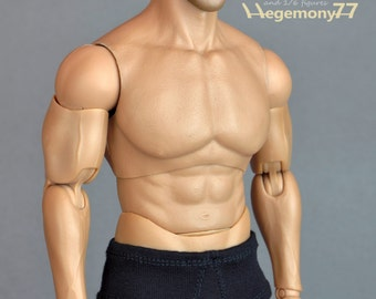 1/6th scale XXL black underwear for: Hot Toys TTM20 size bigger male action figures and fashion dolls