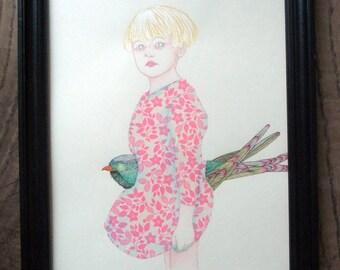 Isaure, original drawing