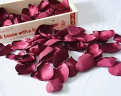 Burgundy, Satin Rose Petals, Maroon, Wine, Silk Petals, Confetti, Wedding Decor, Fake Petals, Heart, Artificial petals, Fabric Flowers, Love