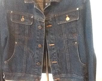 SALE / Super Cute Women's Denim Jacket, Vintage Jean Jacket, Cropped Denim Jacket, Perfect Jean Jacket, Sassi