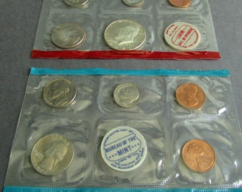 Choice of Uncirculated United States Mint Coin Sets 1970, 1971, 1973, or 1973 Penny, Nickel, Dime, Quarter, Half Dollar, Silver Dollar Coins