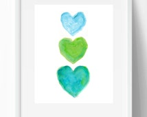 Popular items for lime green art on etsy - Turquoise and lime green decor ...