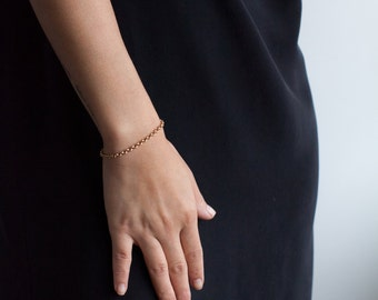 Simple Chain Bracelet -Dainty Gold Brass Layered Chain Bracelet-Gifts for Her-Gifts Under 40-Gifts for Mom-Mothers Day Gift