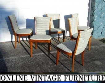 6 RESTORED Heywood Wakefield 1950s C157 Chairs vintage mid century midcentury mid-century modern dining room chair set arm heywood-wakefield