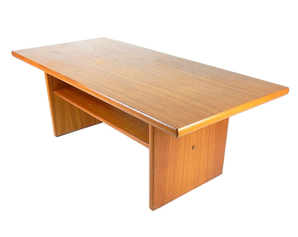 Reserved mid century modern teak coffee table by stonesoupology Modern teak coffee table