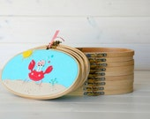 """3-Pack - 5"""" x 9"""" Wooden Embroidery Oval Hoop - Embroidery Accessories - Wooden Oval Hoops - Woodcrafts - Needlepoint Accessories - Oval Hoop"""