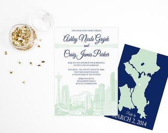 Wedding Invitation | Seattle Skyline