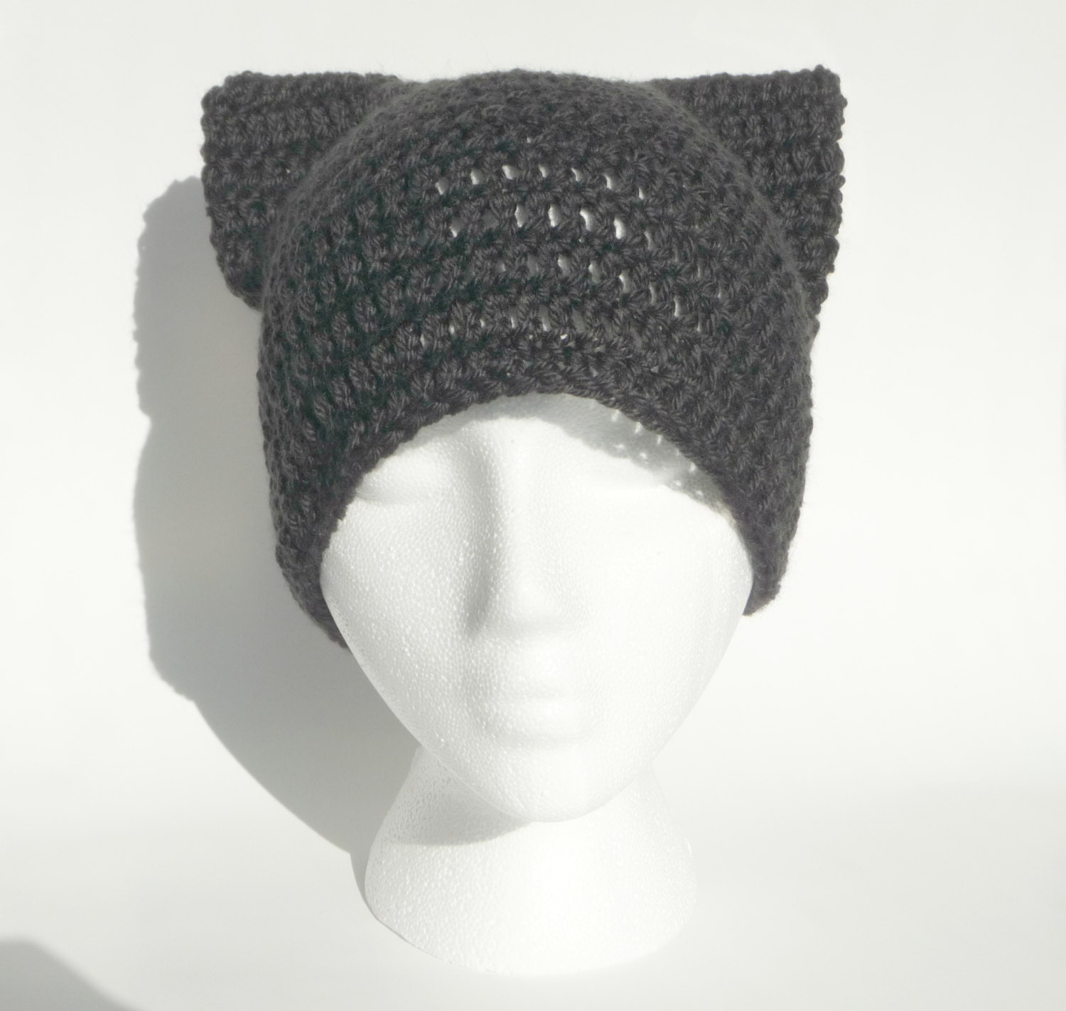 Crochet Cat Ears For Beanie