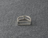 Geometrische Silberring, Square Silberring, Handmade Silber-Ring, Sterling Ring, gerade Silber-Ring, Bar Ring, Geschenk für sie,