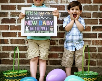 Easter Pregnancy Announcement // Pregnancy Reveal // Pregnant // Easter Pregnancy