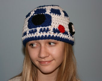 FREE SHIP Star Wars Inspired R2D2 Hat - Newborn to Adult Sizes