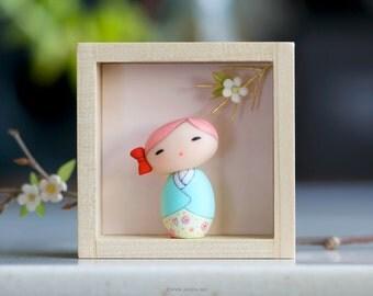 Miniature doll, Kokeshi doll, OOAK doll