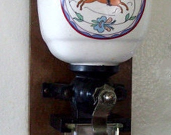 Antique WORKING Coffee Grinder, Wall Mounted Coffee Grinder, Working Vintage Coffee Grinder
